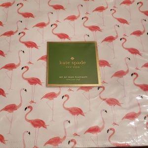 Kate Spade Nwt Flamingo Placemats